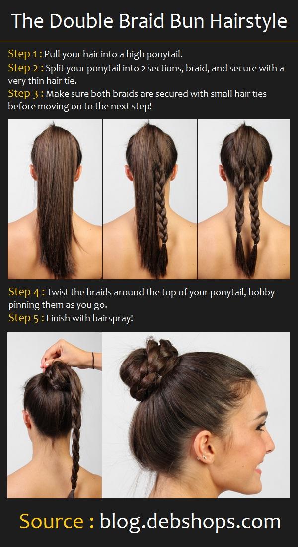 Remarkable Double Braid Bun Hair Tutorial 600 x 1100 · 203 kB · jpeg