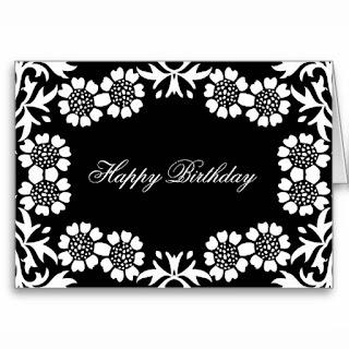 Tarjetas de Cumpleaños en Blanco y Negro