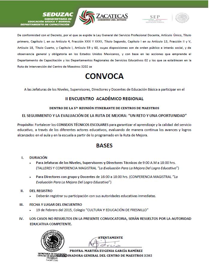 II ENCUENTRO ACADÉMICO CONVOCATORIA GENERAL