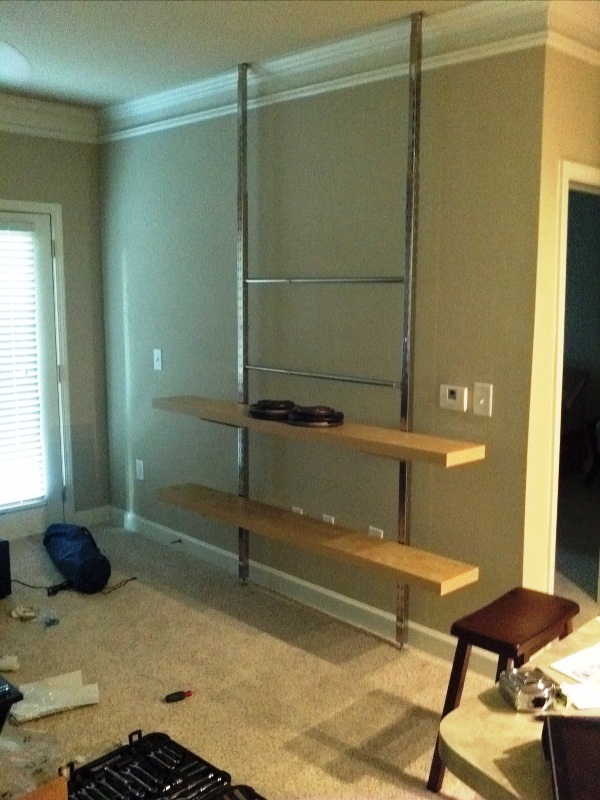 DIY Wall Entertainment Center