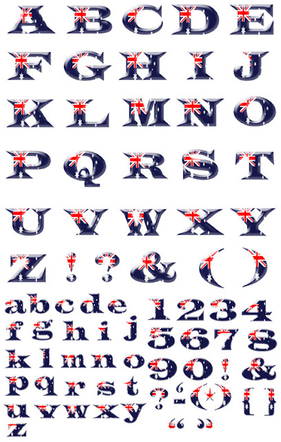 Australian Flag Alphabet preview