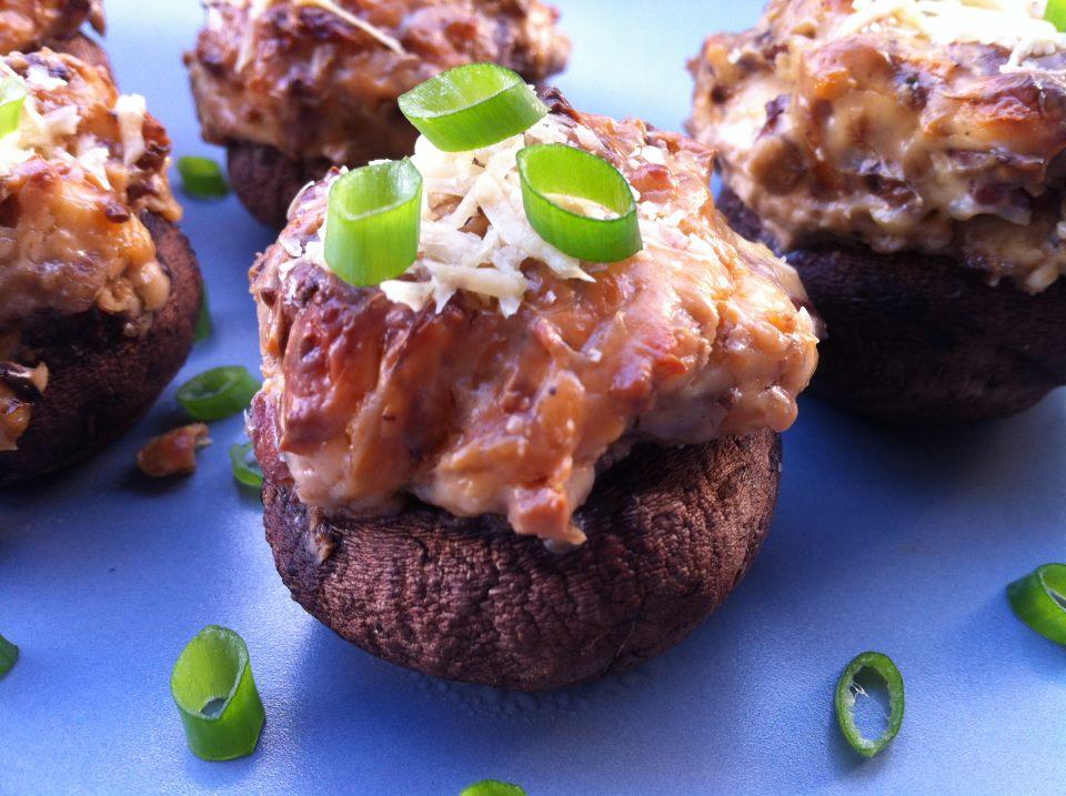 ... ELOFF: Bacon, Blue Cheese, Caramelized Onion Stuffed Mushrooms