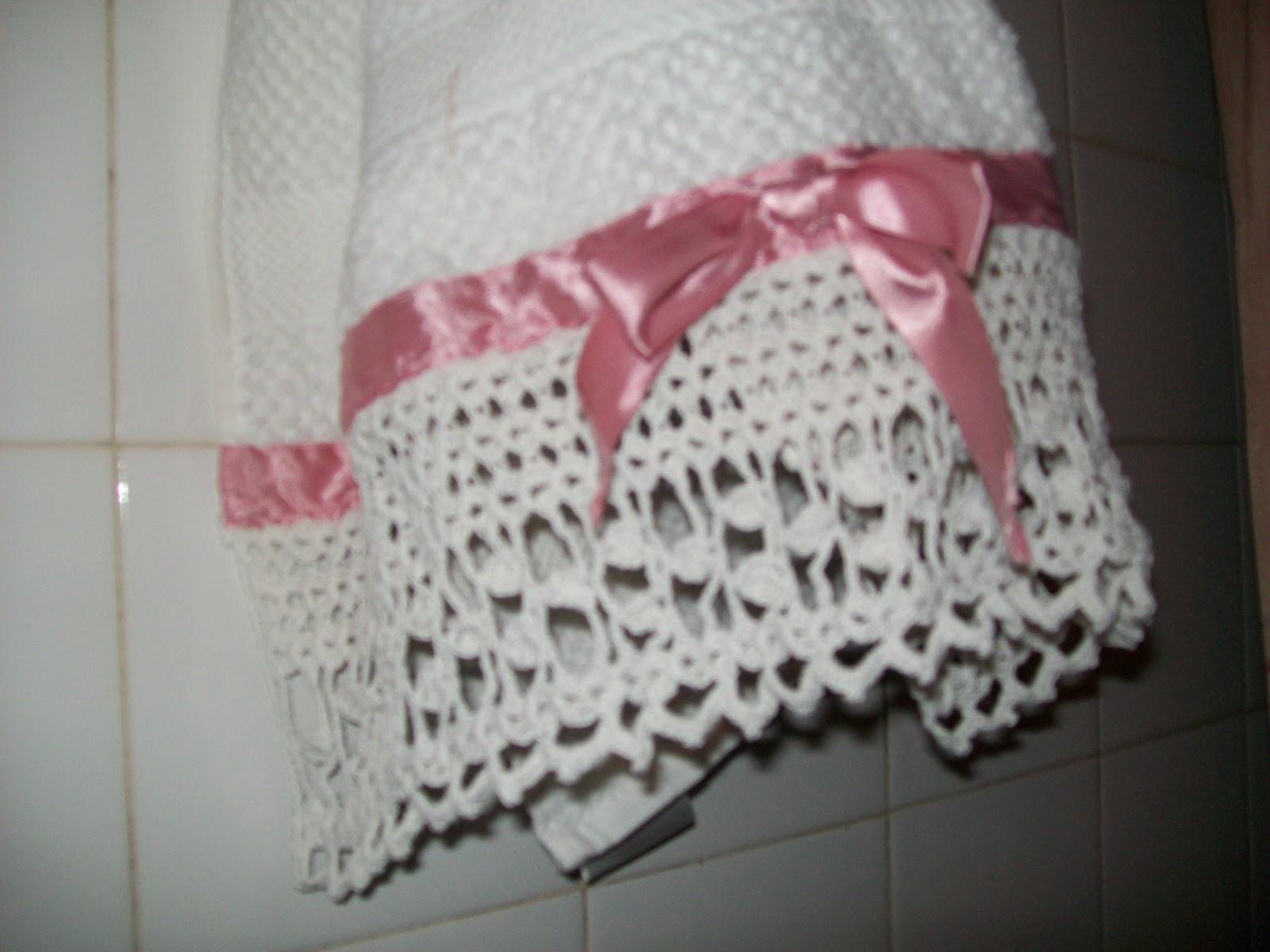 Decoracion De Baños Tejidos A Crochet:Abuela Cata Tejido de Diseño: TOALLAS CON PUNTILLA TEJIDA AL CROCHET