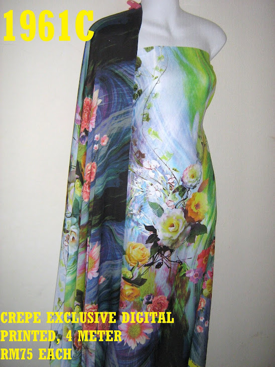 CDP 1961C: CREPE EXCLUSIVE DIGITAL PRINTED, 4 METER