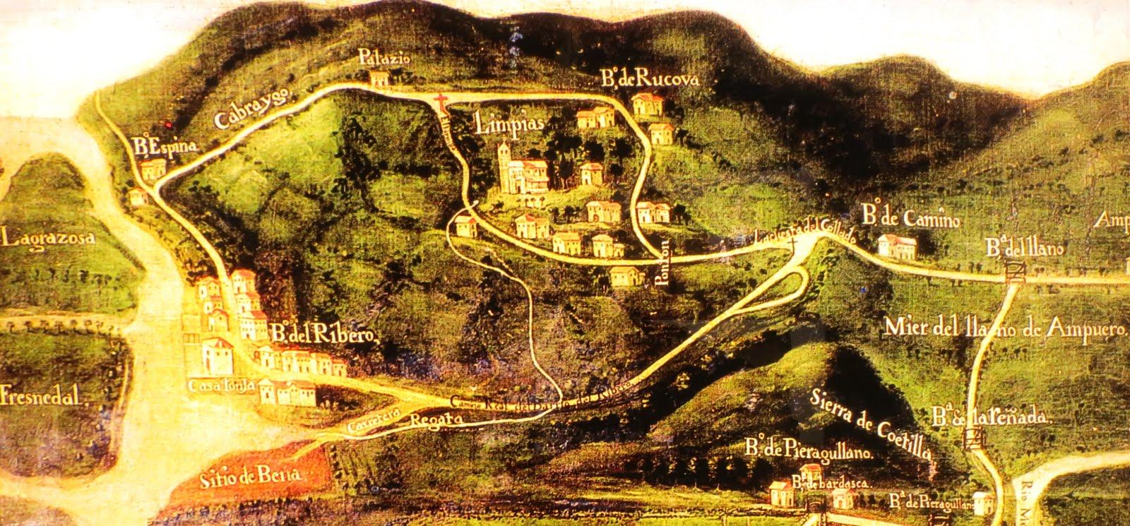 Plano de la desembocadura del Asón; Museo Juan de Espina (Ampuero)