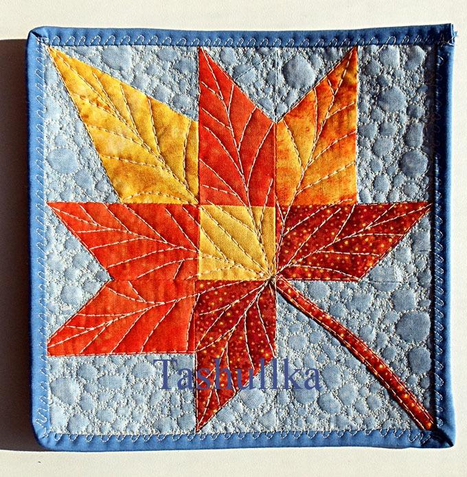 Мозаика из лоскутков ткани своими руками