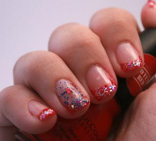 Simple Glitter Patriotic Mani