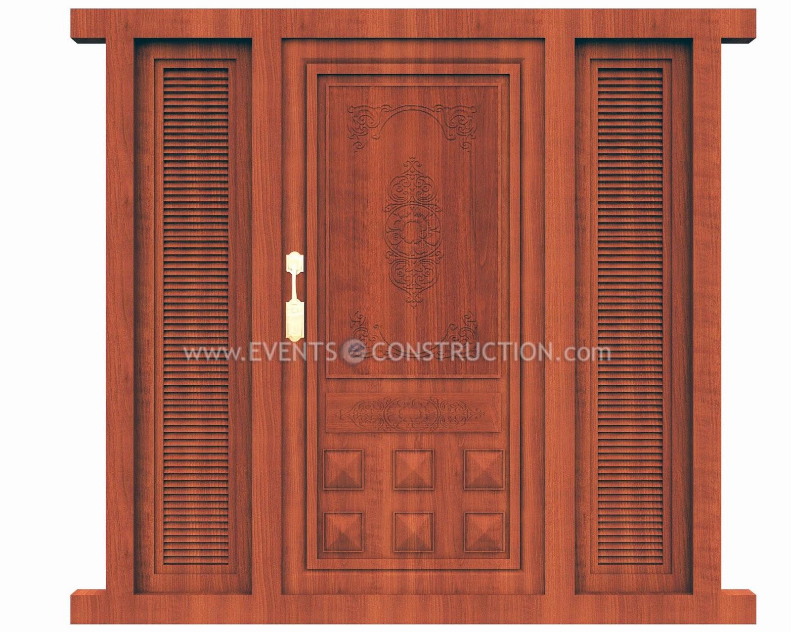 Evens construction pvt ltd wooden main door design for Main door designs 2014
