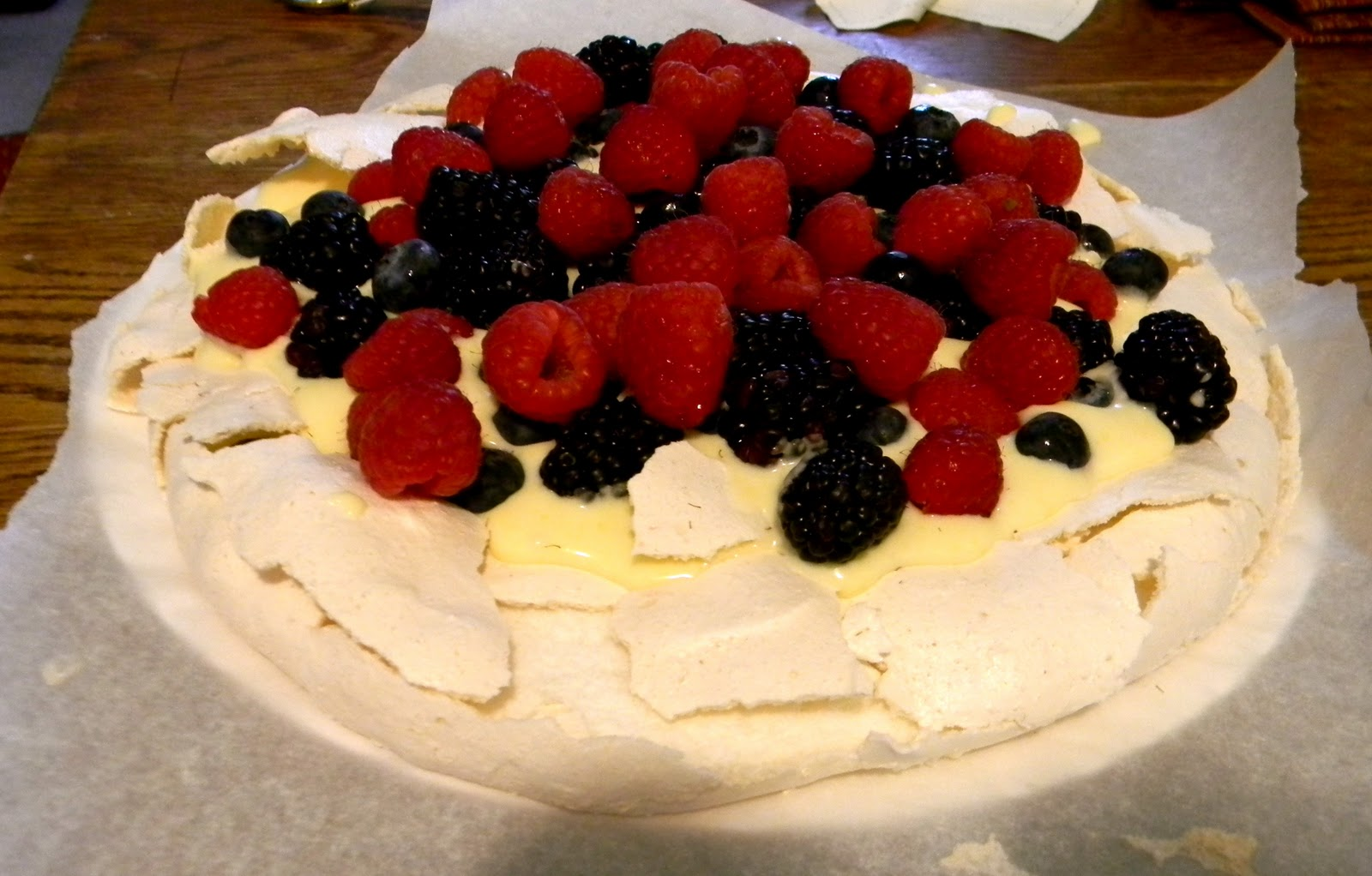 Pavlova With Lemon Curd And Fresh Berries Recipe — Dishmaps