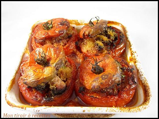 tomates farcies jus