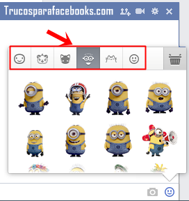 facebook trucos sticker