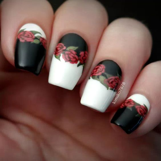 Nail designs influenced by the styles of the 50's, the 60's and the 70's! - Gorgeous Vintage Nail Art Designs! - OMG Love Beauty!