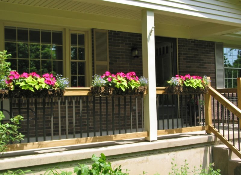 Porch Railing Flower Boxes