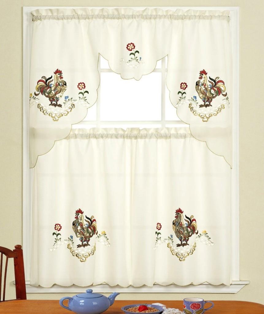 Dise o de interiores casas cortinas de cocina con for Disenos de cortinas de cocina