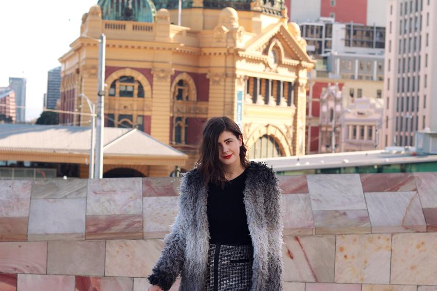 ivana, ivana petrovic, melbourne blog, melbourne blogger, melbourne fashion blog, melbourne fashion bloggers, australian blog, australian fashion blogs, australian fashion bloggers, australian bloggers, junk clothing, like a harte, likeaharte, alyssmn, eniko & skye, glassons, ribbed crop, crop knit, winter crop, fall outfits, winter outfits, spring outfits, outfit inspo, famous footwear, ankle boots, forever new bag, forever new bloggers, glassons bloggers, junk clothing bloggers, melbourne, visit melbourne, flinders street station,