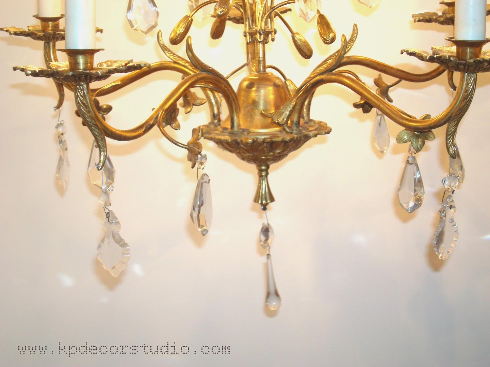 Kp tienda vintage online l mpara de l grimas a os 50 flowers chandelier 50 39 s - Lamparas clasicas de techo ...