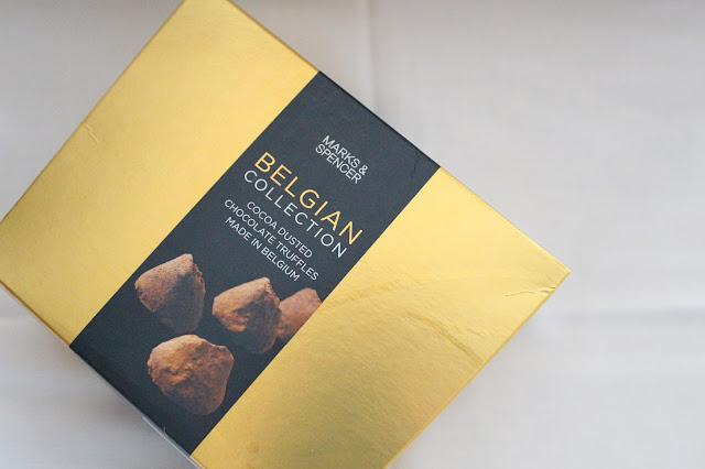 luxury Christmas marks and Spencer chocolate truffles