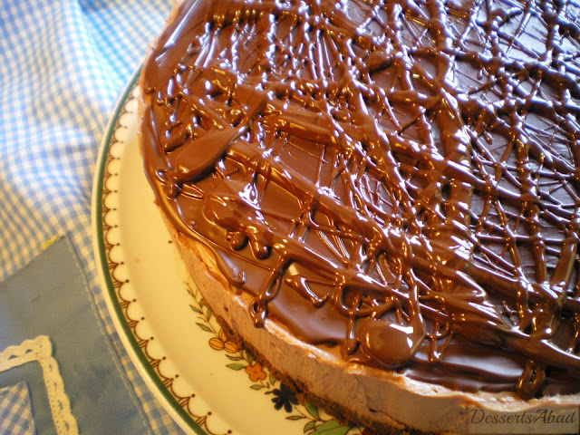 Cheesecake de chocolate {sin horno}