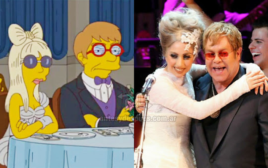 Lady Gaga Elton John simpsons wartis+kartun Tokoh tokoh selebriti dalam serial kartun The Simpson