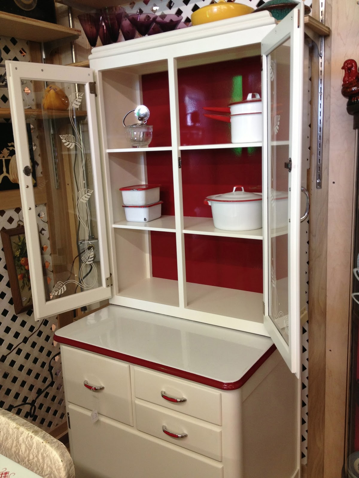 C. Dianne Zweig - Kitsch 'n Stuff: Red And White Smaller Hoosier ...