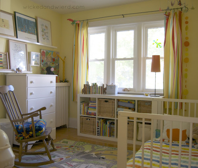 bright colorful toddler room
