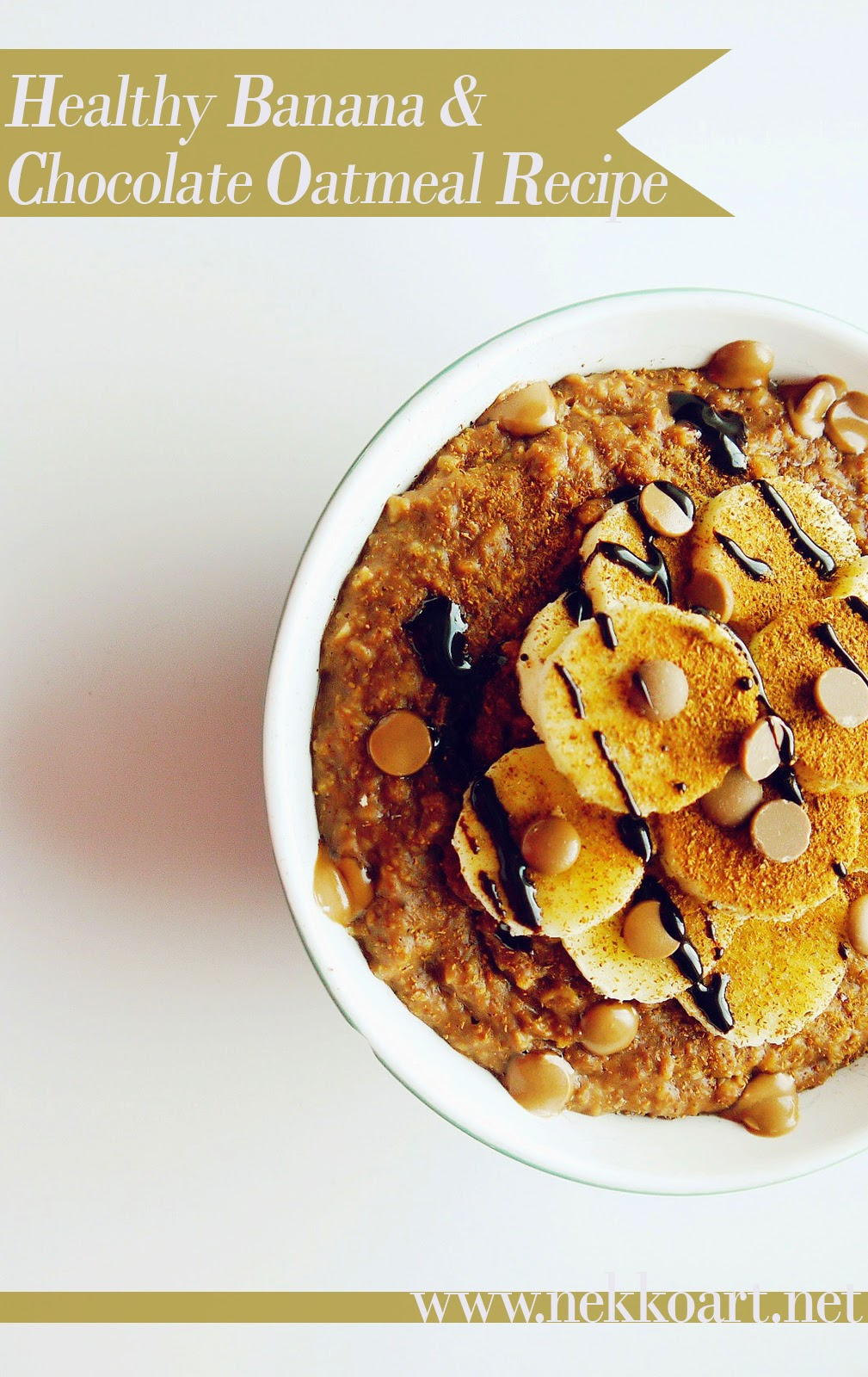 banana chocolate oatmeal healthy