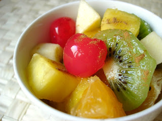 macedonia tropical, macedonia, ensalada de frutas, recetas, recetario, frutas