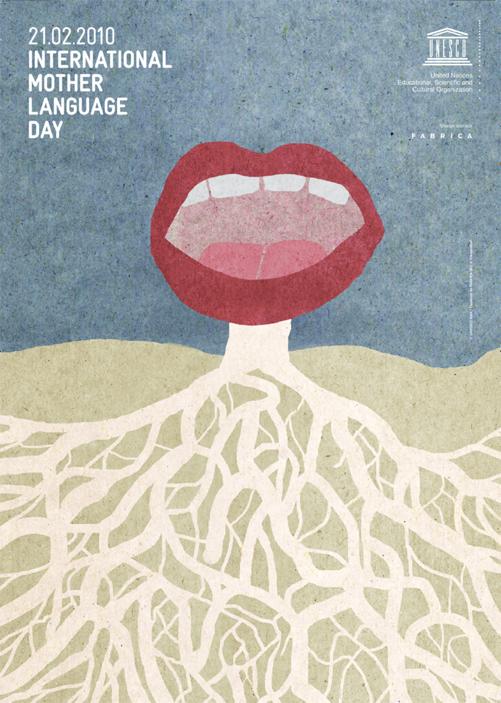 Afiche Día Internacional de la Lengua Materna 2010 - UNESCO