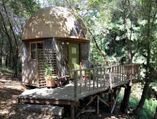 Escape to the great outdoors. The Mushroom Dome Cabin is off the beaten path.
