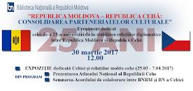 """""""Republica Moldova - Republica Cehă: Consolidarea parteneriatelor culturale"""""""