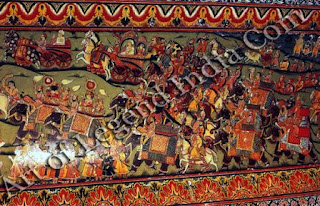 Royal Procession (Wall Painting)
