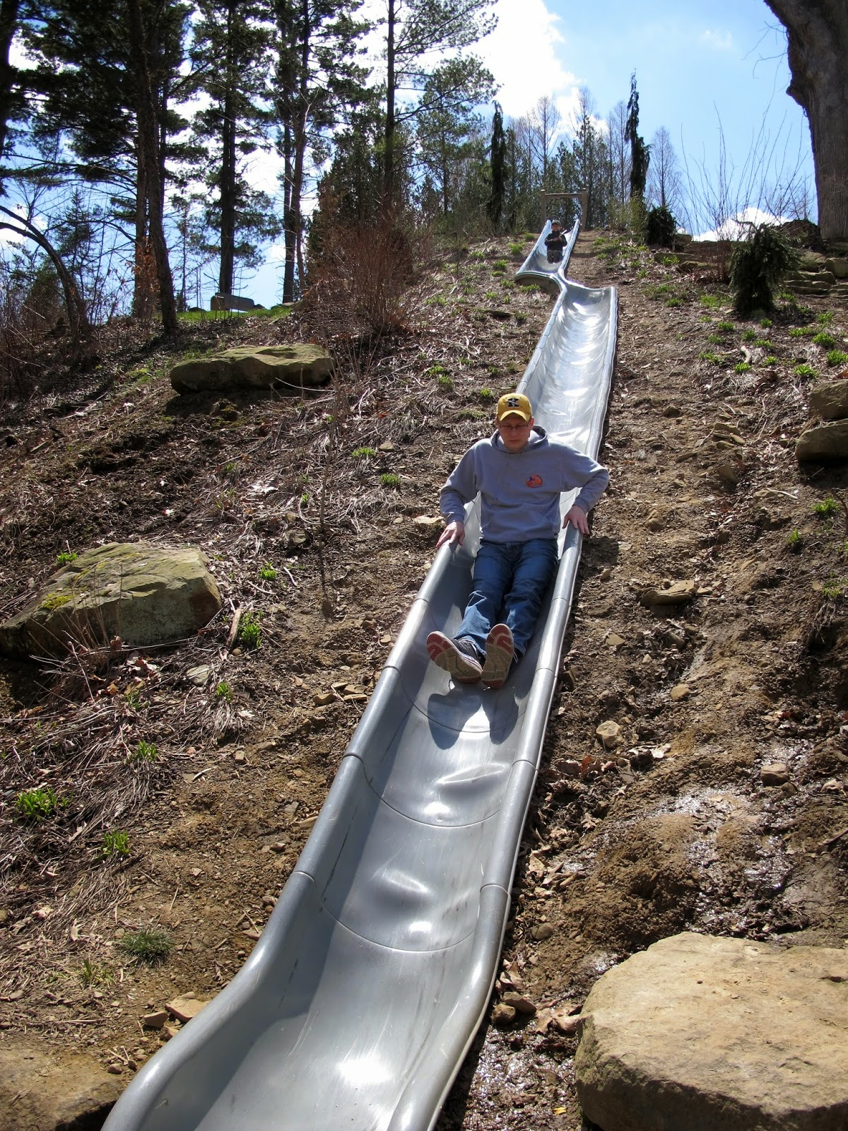Daddy on the Slide