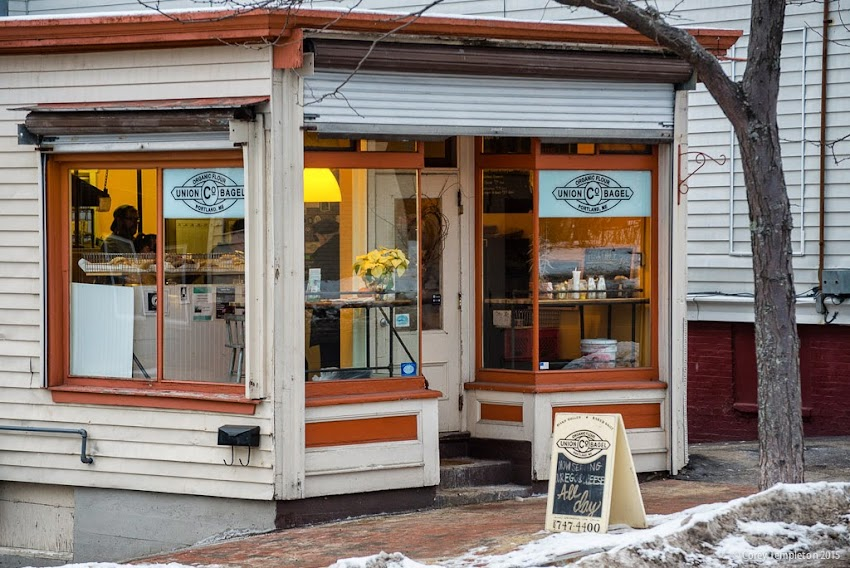 Union Bagel Co. at 147 Cumberland Avenue in Portland, Maine USA January 2015 photo by Corey Templeton