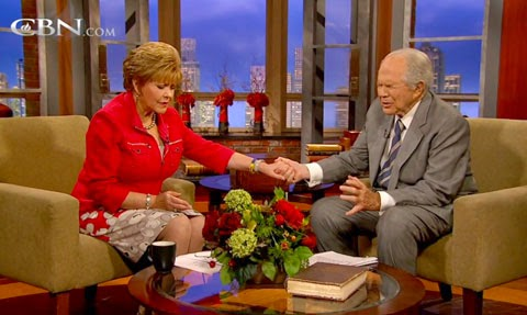 Pat Robertson performs faith healing live on television