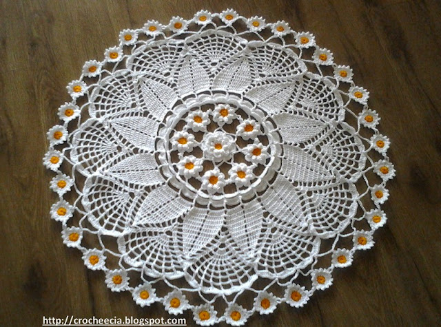 toalha, crochet
