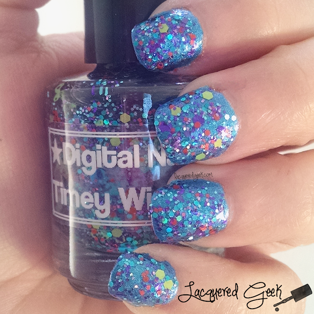 Digital Nails Timey Wimey nail polish swatch