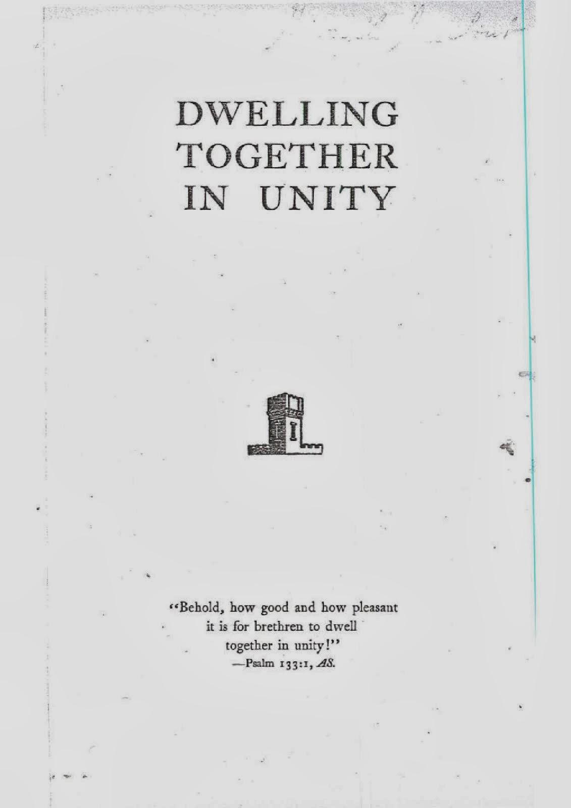 Morando juntos en unidad (1952), en inglés