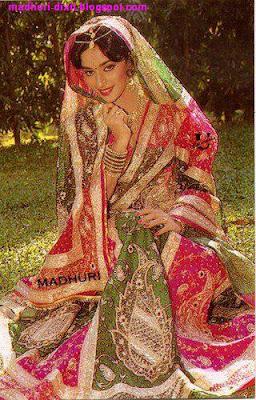 Madhuri Dixit In Amazing Wedding Dress