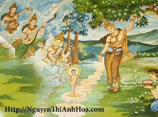 Hoang Hau Maya sinh duc Phat duoi goc hoa vo uu