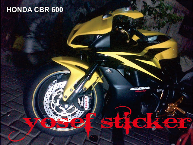 cbr 600 rr by yosef sticker