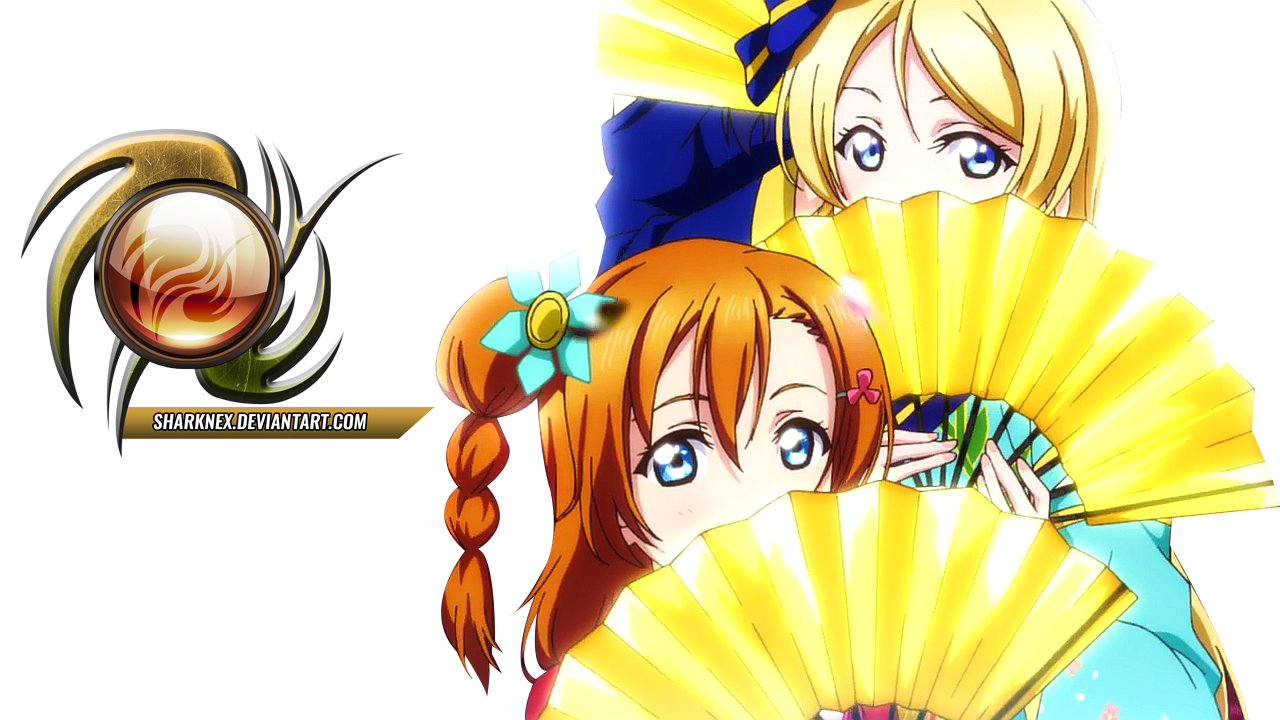 Love live movie - Honoka and eri render