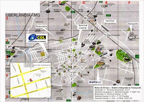 Mapa turístico de Uberlândia
