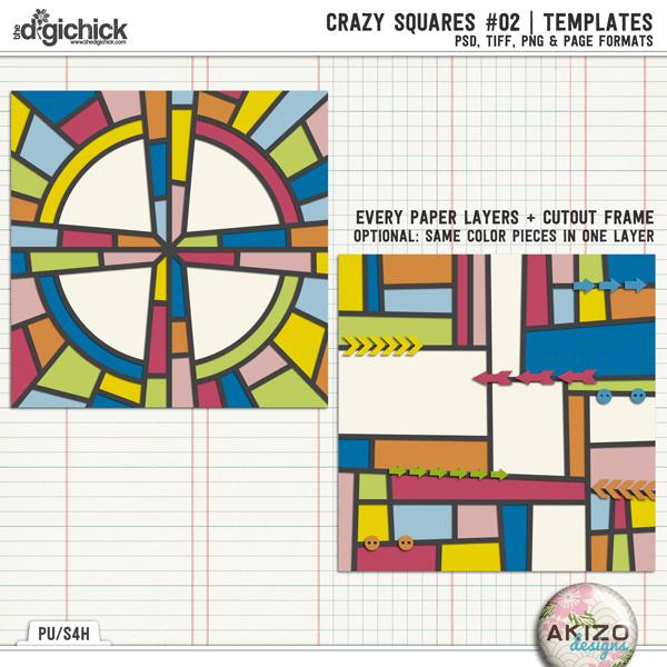 Crazy Squares #02 Templates