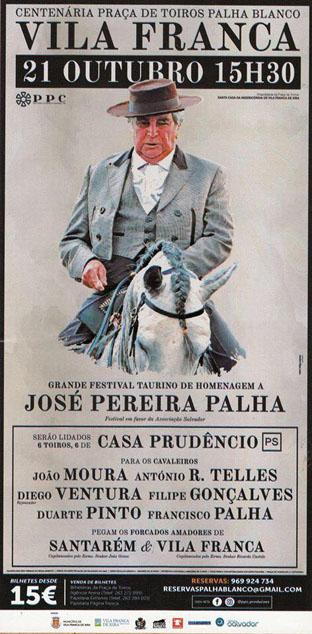 VILA FRANCA  DE XIRA (PORTUGAL) 21-10-2017. HOMENAJEA LA MEMORIA DE JOSÉ PEREIRA PALHA.