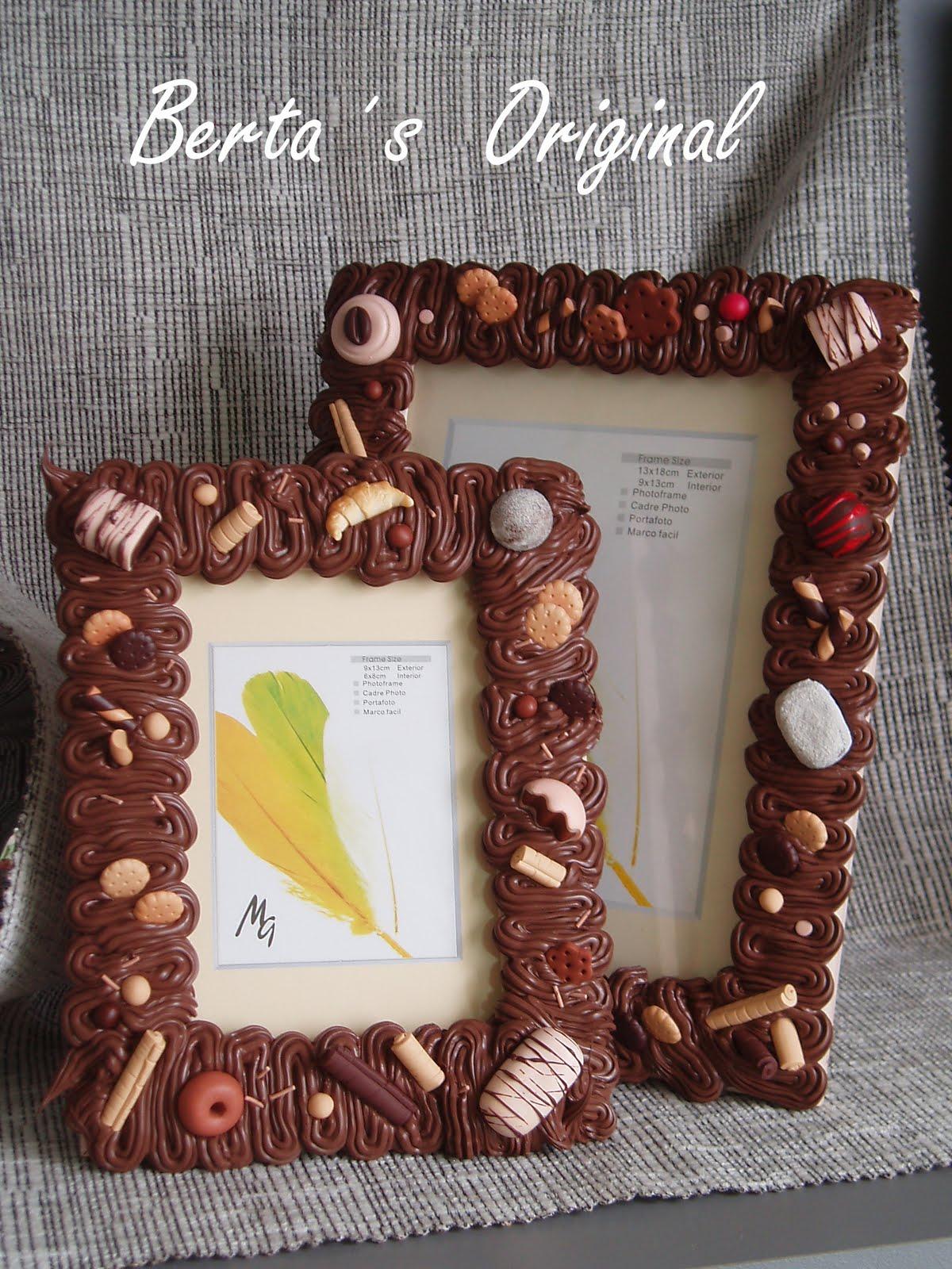 Berta s original mis marcos de fotos decorados todo un - Marcos decorados ...