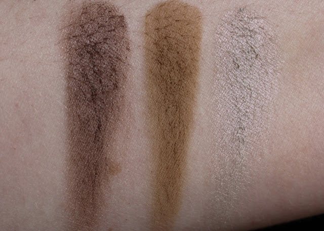 Makeup Geek shadows L-R Taupe Notch, Preppy, Rockstar