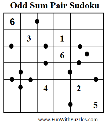 Odd Sum Pair Sudoku (Mini Sudoku Series #66)