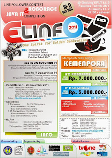 Desember Lomba Robot Line Follower ROBORACE dan Pemrograman Java IT