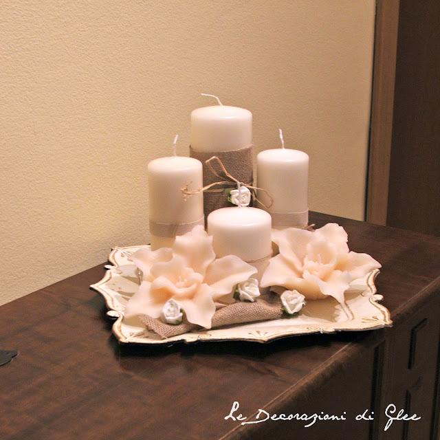 Le decorazioni di glee composizione di candele - Decorazioni con candele ...