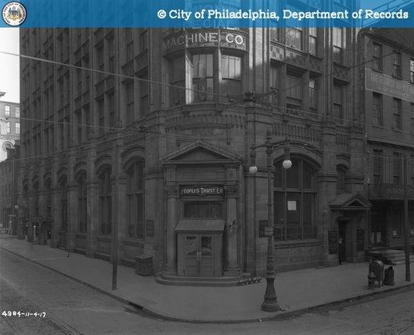 The Amazing History Of The People's Trust Co At 40th And Arch Once Delectable Arch Sewing Machine Company Philadelphia Pa
